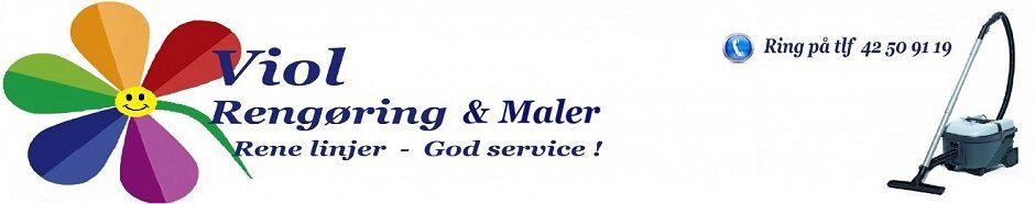Viol Rengøring & Maler - Rene linjer & God service !
